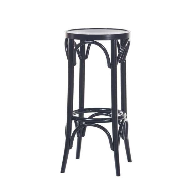 Tabouret en bois style bistrot 4 pieds tables chaises et tabourets - Tabouret de bar bois et cuir ...