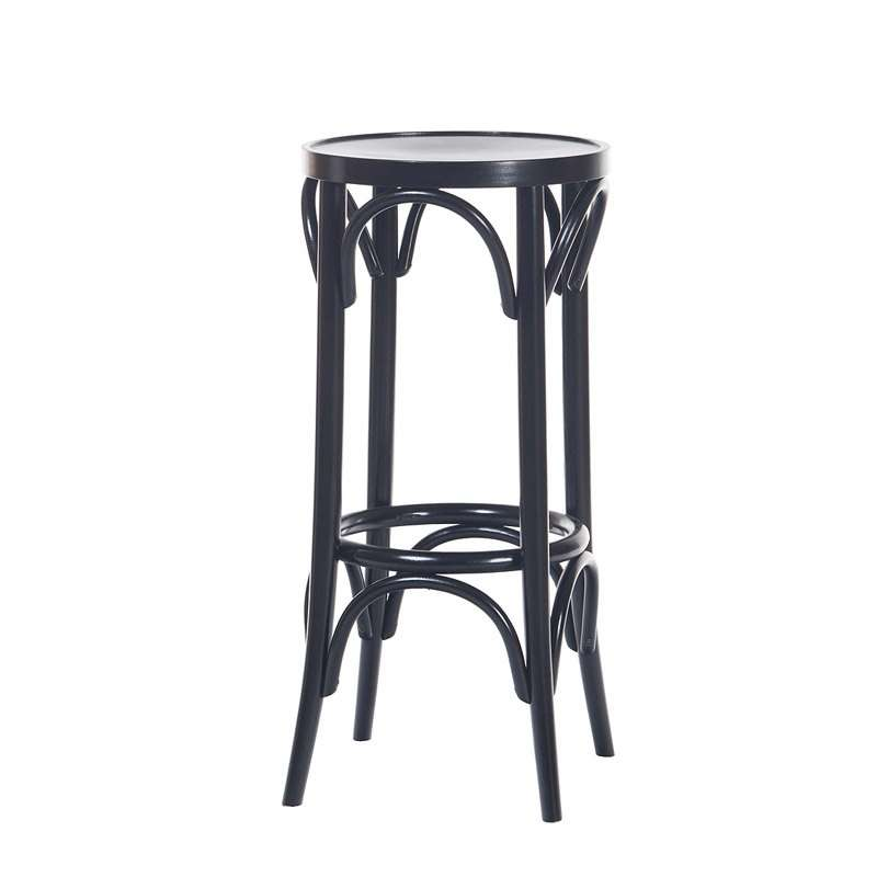 tabouret en bois style bistrot 4 pieds tables chaises. Black Bedroom Furniture Sets. Home Design Ideas