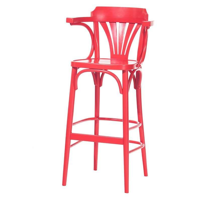 tabouret en bois style bistrot 135 4 pieds tables. Black Bedroom Furniture Sets. Home Design Ideas