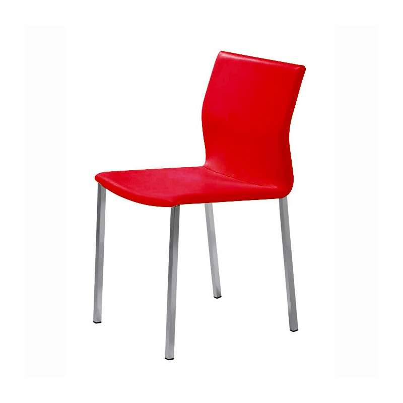 Salon Blanc Bois Noir : Chaise de cuisine en métal Sierra  4 Pieds  tables, chaises et