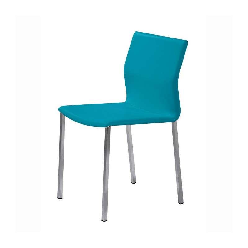 Chaise blanche de cuisine cuisine blanche verre chaise de for Deco cuisine avec chaise blanche et bois pas cher