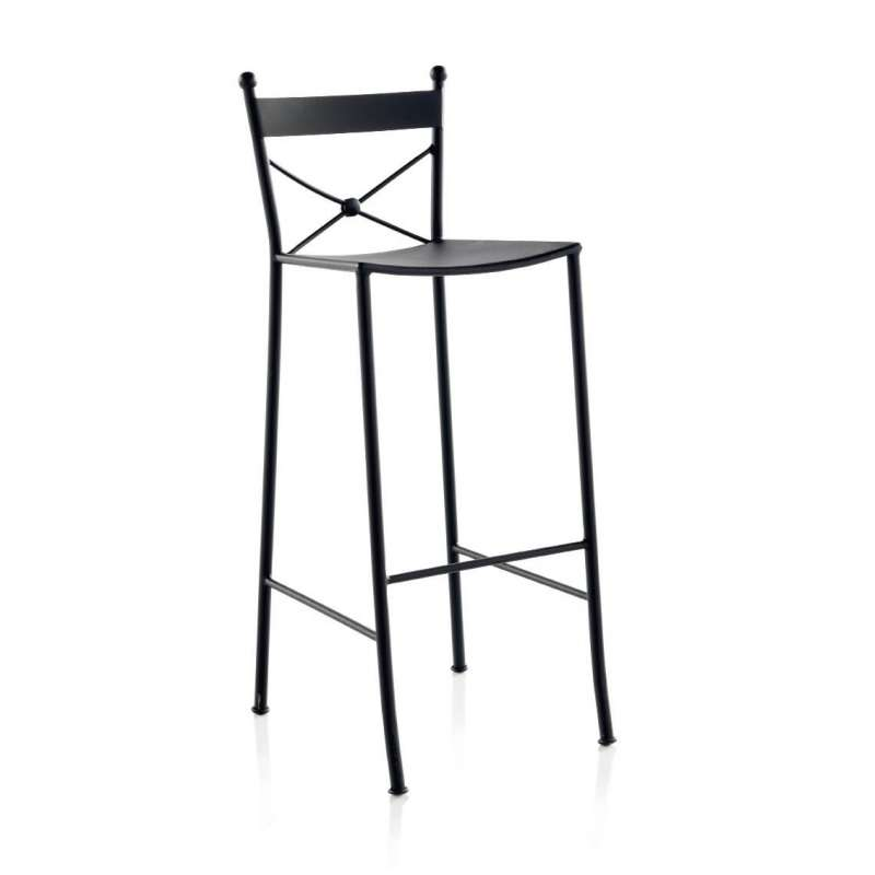 Tabouret De Bar En Fer Forg Paris 4 Pieds Tables