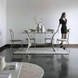 Table en fer forgé ovale Apolo