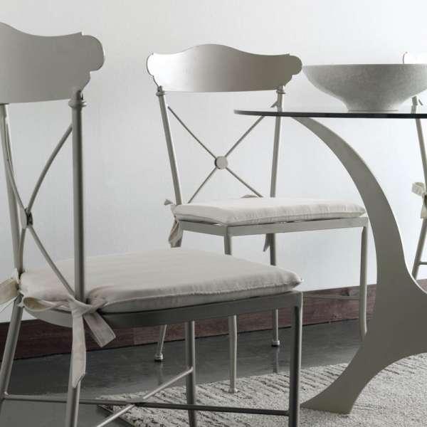 Table en fer forgé ovale Apolo - 2