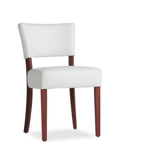 Chaise en vinyl et bois - Steffi - 3