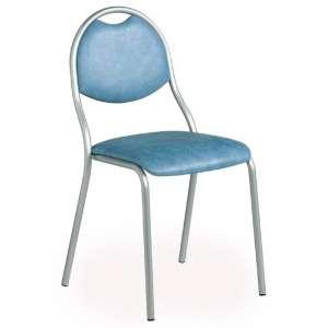 Chaise de cuisine en métal avec assise et dossier rembourrés - Corfou
