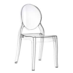 Chaise design en plexi transparent Elizabeth