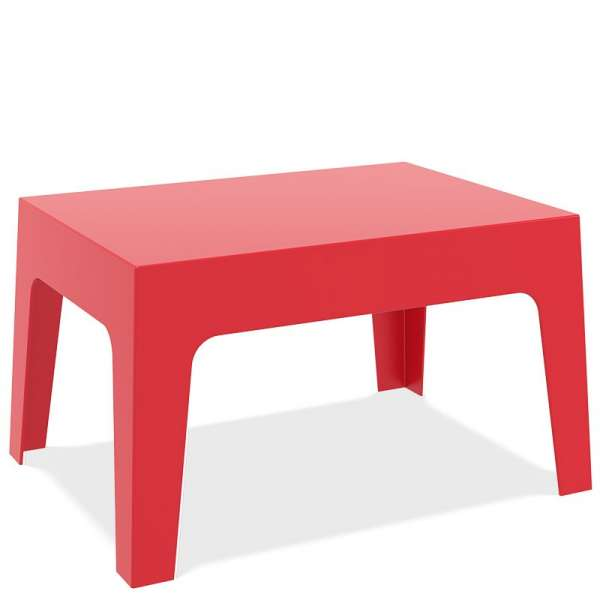 Table basse de jardinen polypropylène rouge - Box - 6