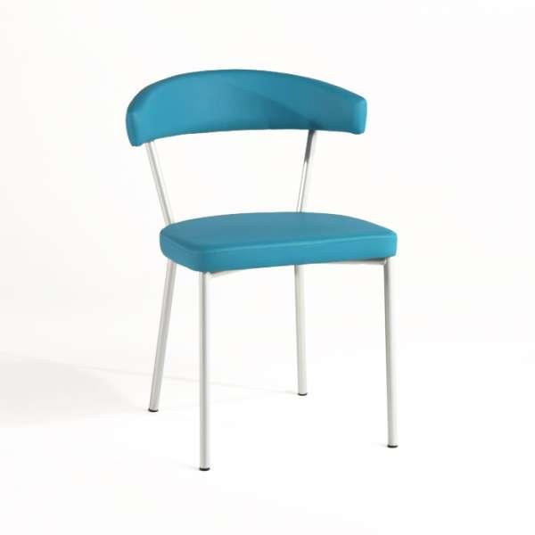 Chaise de cuisine en métal et synthétique - Elli
