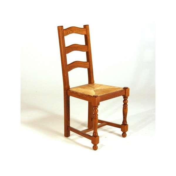 Achat de chaises en bois rustiques contemporaines et for Chaise rustique bois et paille