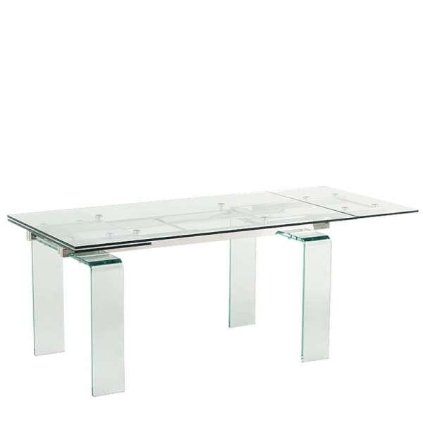 Table design rectangulaire en verre Tania - 3