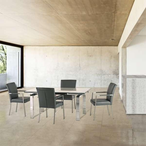 Table design en verre extensible Tanina - 2