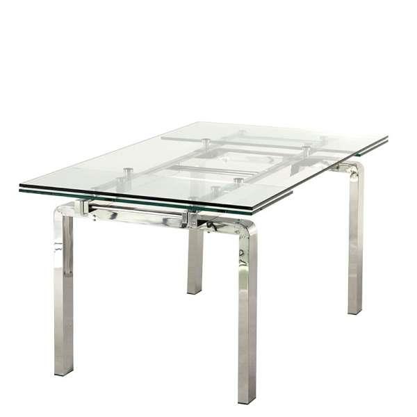 Table design en verre extensible Tanina - 4