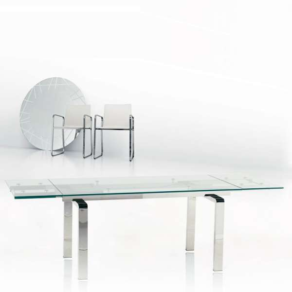 table extensible design verre