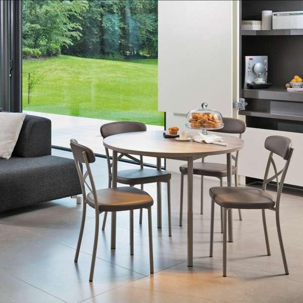 Table de cuisine ronde en stratifié - Lustra