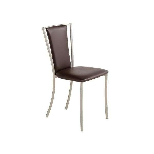 chaise de cuisine contemporaine en mtal et vinyle reina - Chaise Cuisine Moderne