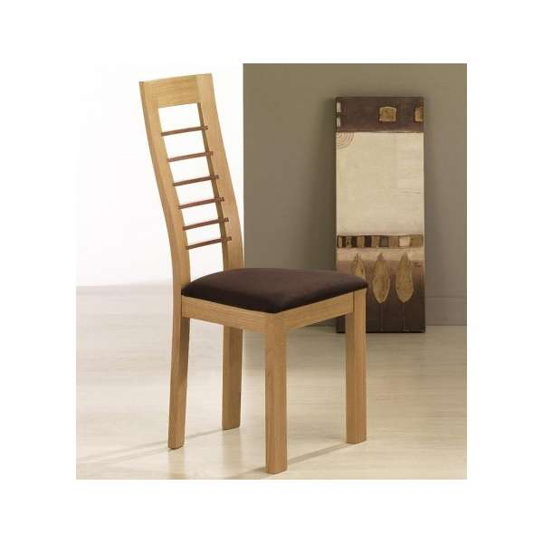 Chaise contemporaine Cannelle en chêne - 1