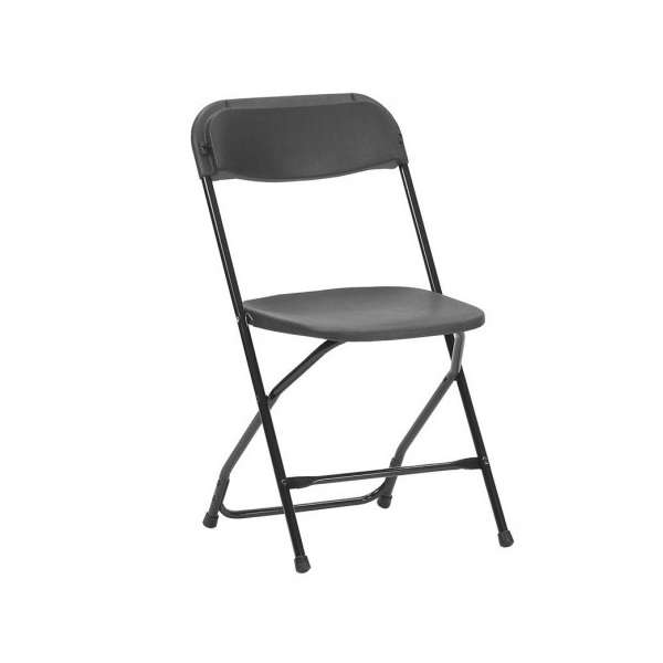 Chaise pliante en plastique et métal - Alex