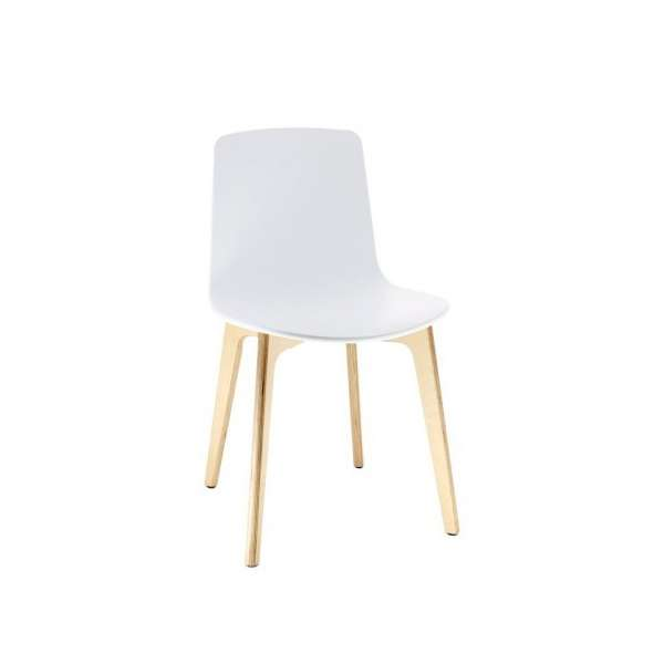 Chaise design en polypropylène Lottus - Pieds bois - Enea®