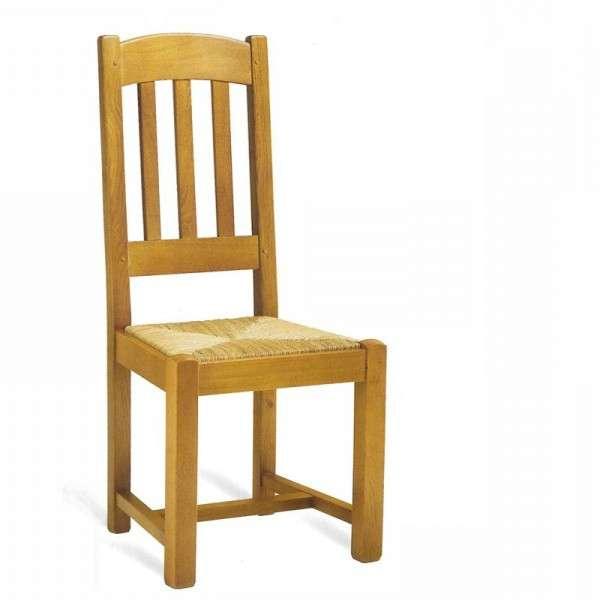 Chaise de salle à manger en chêne rustique - 710 712