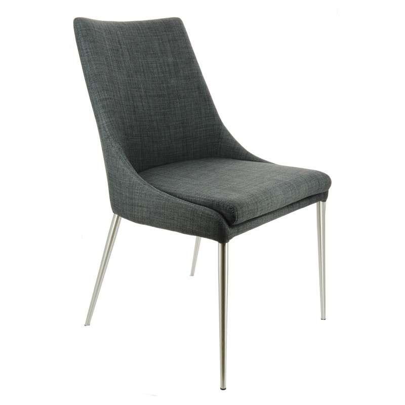 Chaise moderne en tissu debby 4 pieds tables - Chaises en tissus design ...