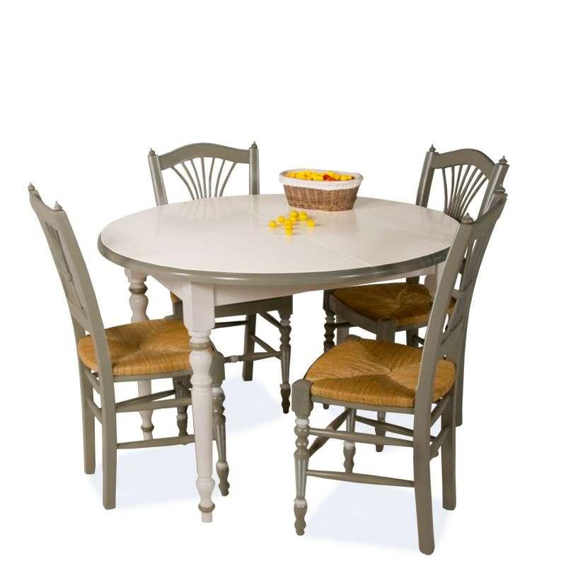 4 pieds vente en ligne for Table ronde bois blanc avec rallonge