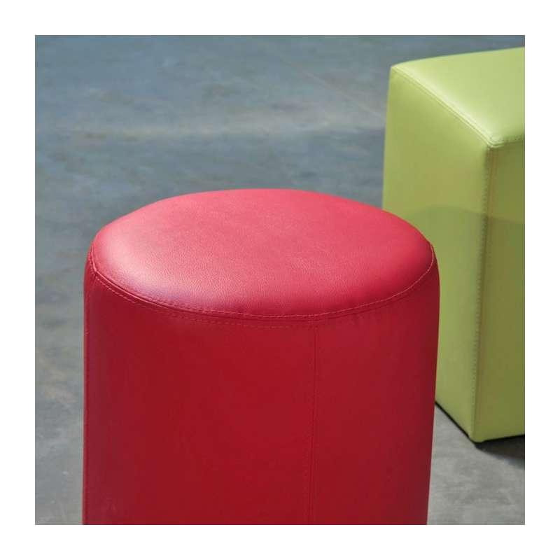 pouf rond rondo 4 pieds tables chaises et tabourets. Black Bedroom Furniture Sets. Home Design Ideas