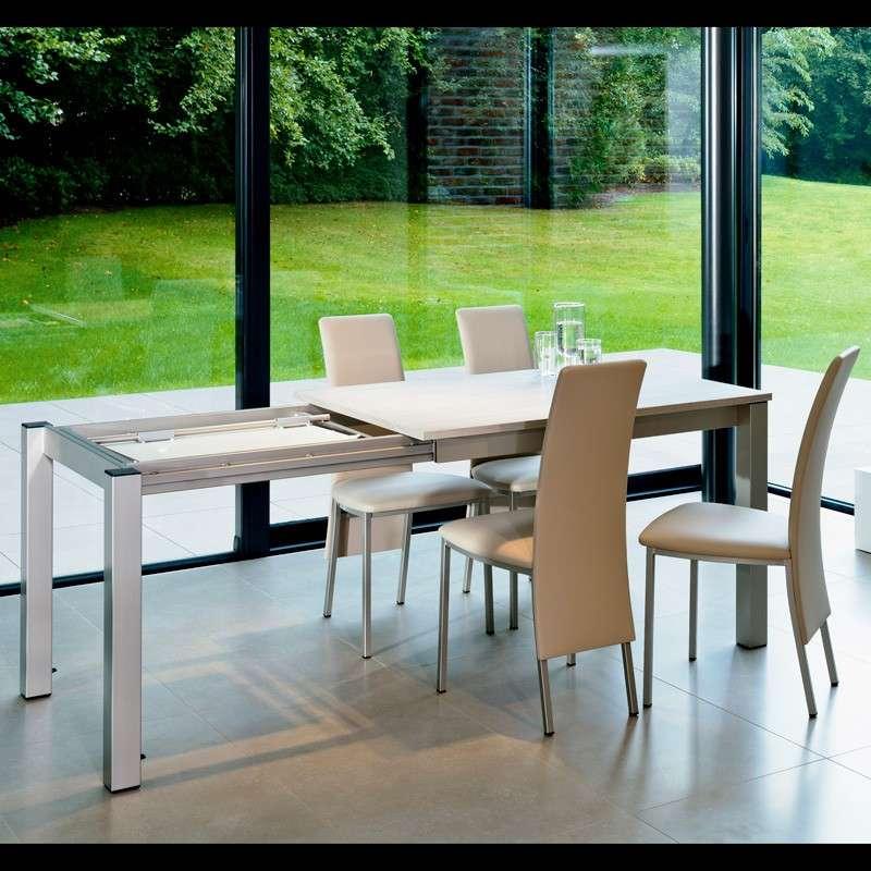 table de cuisine rectangulaire en stratifi avec allonge valencia 4 pieds tables chaises et. Black Bedroom Furniture Sets. Home Design Ideas