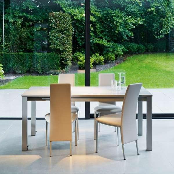 Table de cuisine rectangulaire en stratifié avec allonge - Valencia 14 - 13