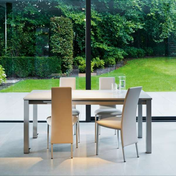 Table de cuisine rectangulaire en stratifié avec allonge - Valencia 2 - 1