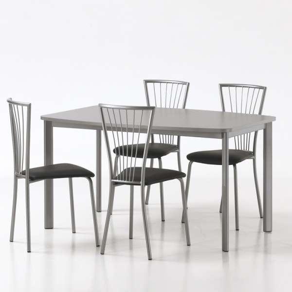 Chaise de cuisine en vinyl et métal - Jana 3 - 3