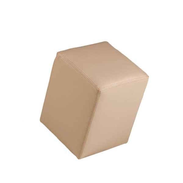 Pouf carré beige – Quadra - 7