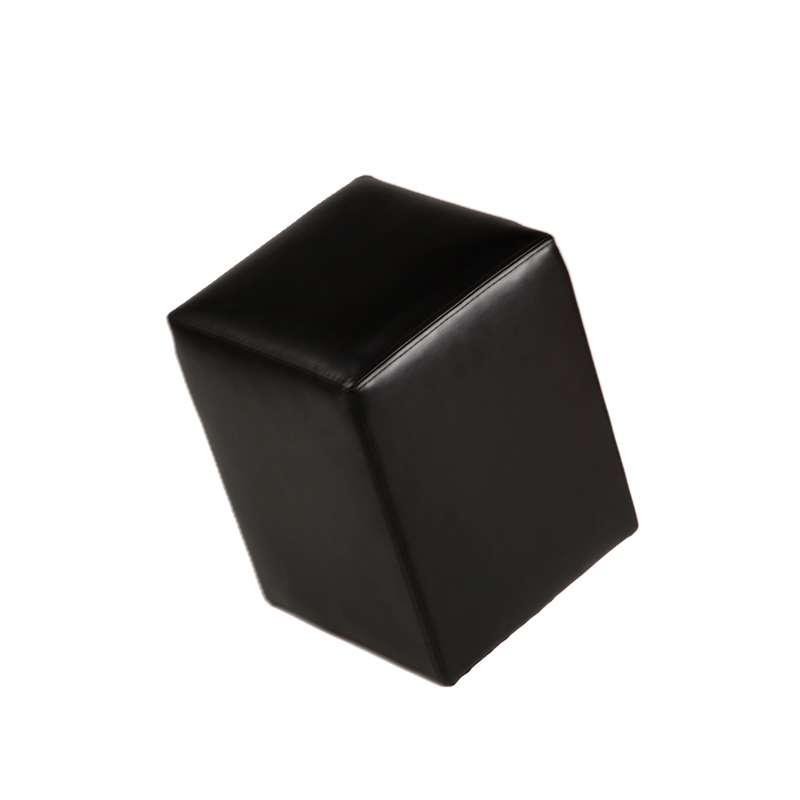 Pouf carr quadra 4 pieds tables chaises et tabourets for Pouf carre noir ikea