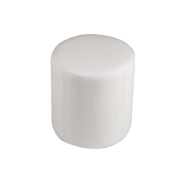 Pouf rond blanc – Rondo - 5