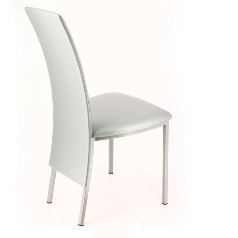 chaise contemporaine elyn en m tal 4 pieds tables. Black Bedroom Furniture Sets. Home Design Ideas