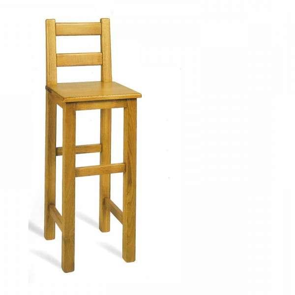 Tabouret de bar rustique en ch ne 4 pieds tables for 4 pieds 4 chaises rouen