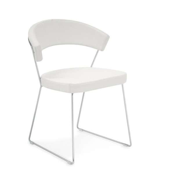 Chaise design en métal & cuir New-York Calligaris® - 2