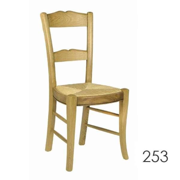 Chaise de cuisine rustique en chêne massif - 250/253/255