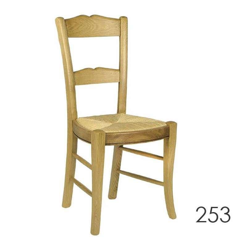 Chaise de s jour en bois rustique en ch ne 250 253 255 for Chaise sejour
