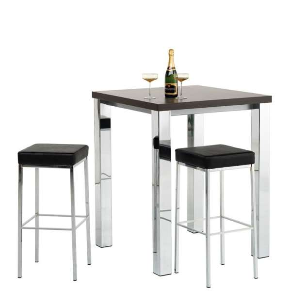 tabouret de bar sans dossier en m tal quadra 4 pieds tables chaises et tabourets. Black Bedroom Furniture Sets. Home Design Ideas