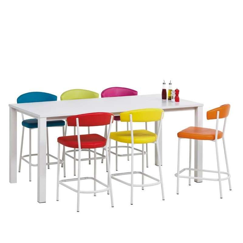 Tabouret snack de cuisine moderne elli 4 pieds tables chaises et tabou - Tabouret de cuisine 4 pieds ...