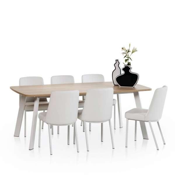 Table de cuisine rectangle en stratifié - Elias 6 - 3