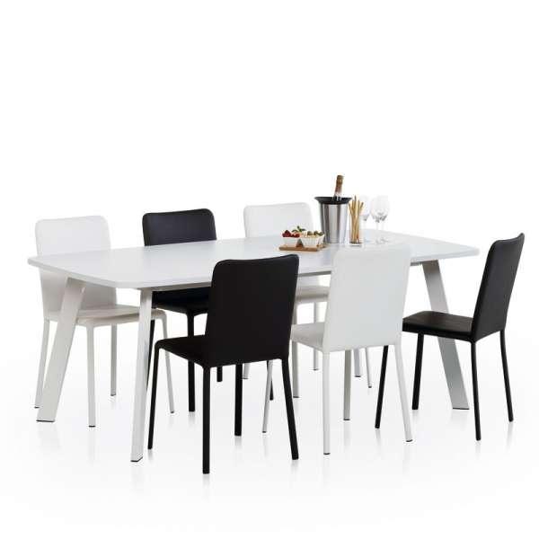Table de cuisine rectangle en stratifié - Elias 3 - 2