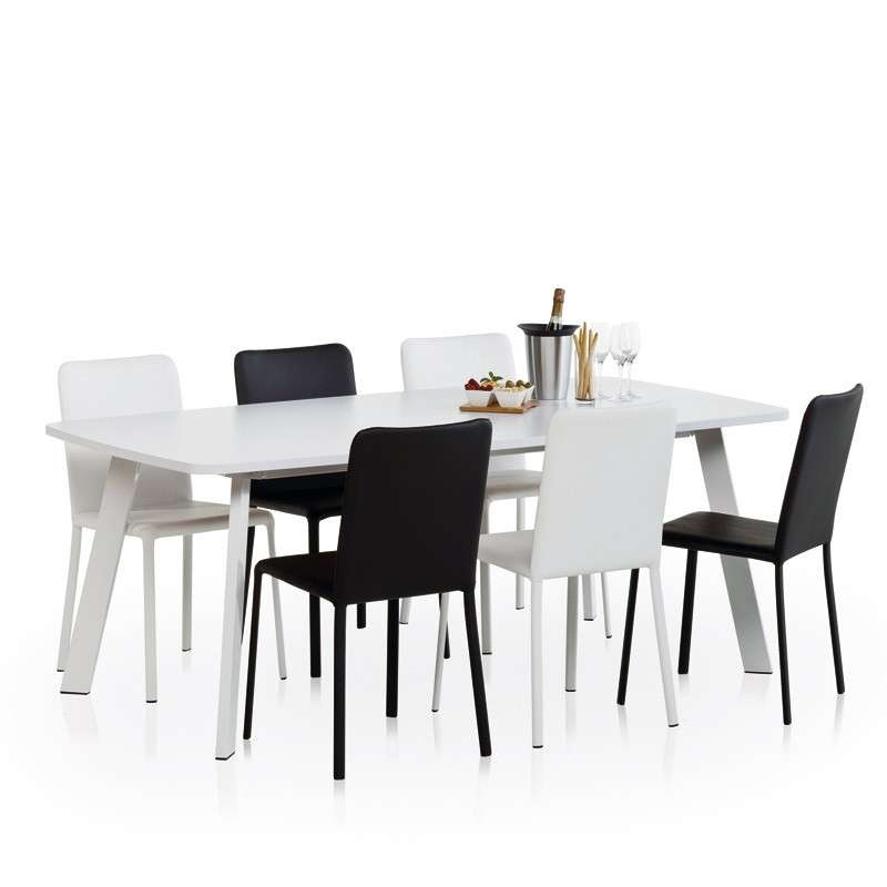 Table de cuisine rectangle en stratifi elias 4 pieds - Table de cuisine la redoute ...
