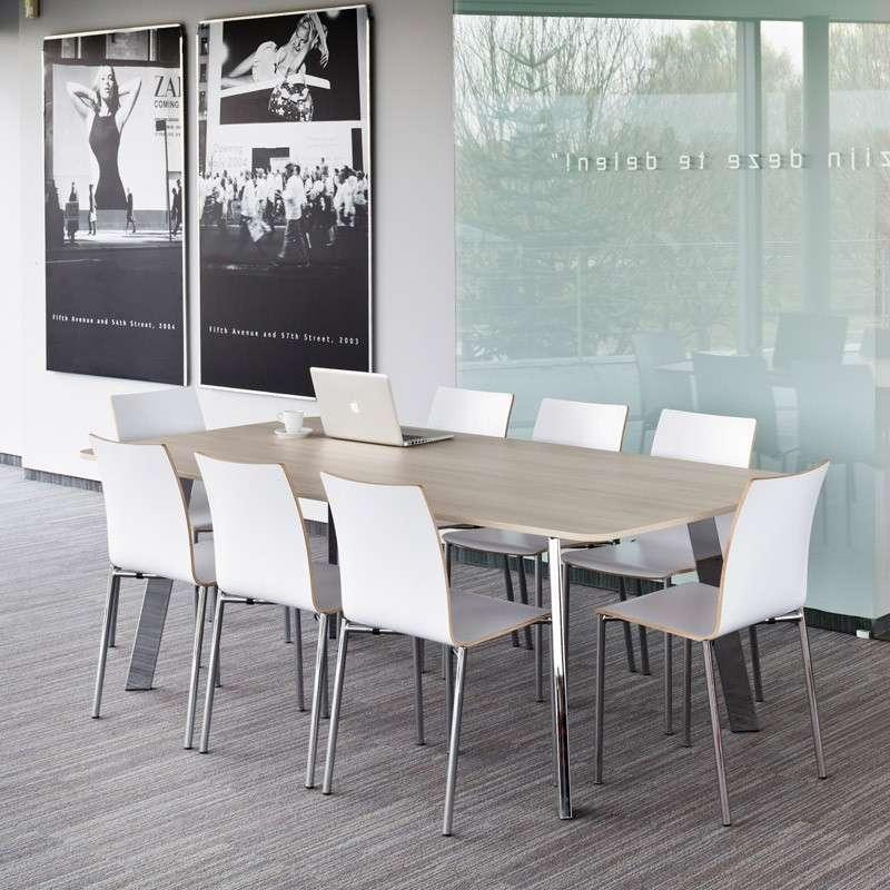 Table moderne en stratifi elias 4 pieds tables for Table de sejour moderne
