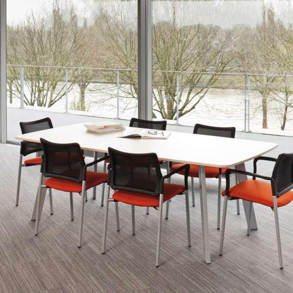 Table de cuisine rectangle en stratifié - Elias 4 - 5