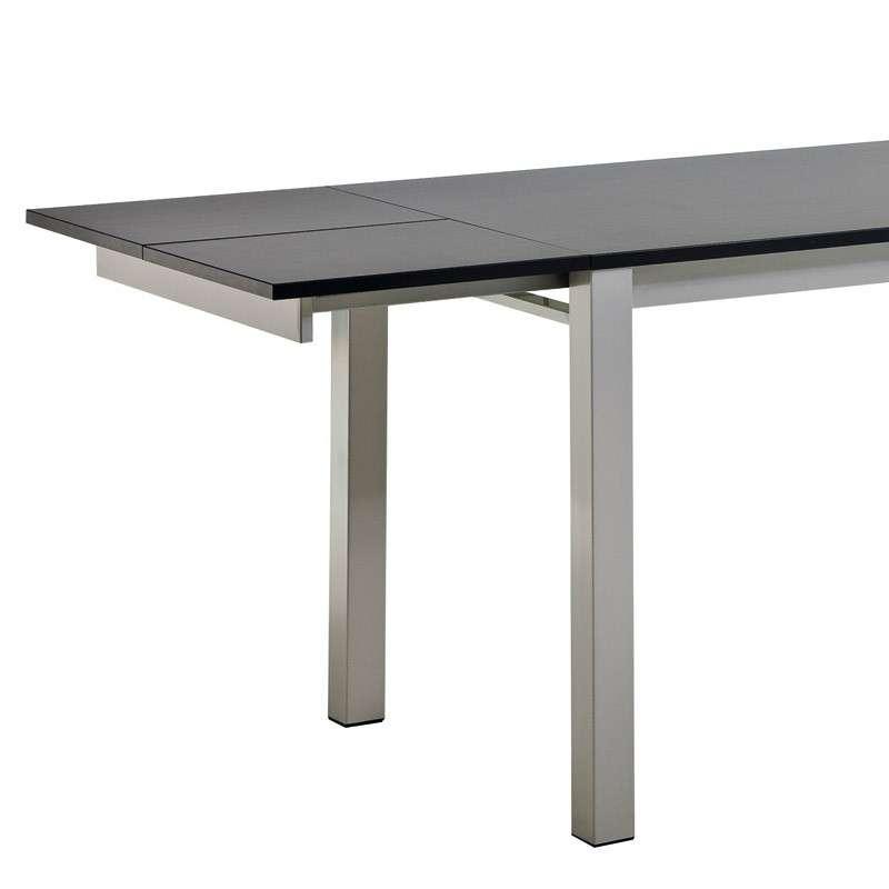 Table de cuisine en stratifi extensible 2 hauteurs for Table extensible 4 pieds
