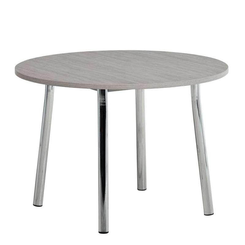 table de cuisine en stratifi ovale ou ronde elli 4 pieds tables chaises et tabourets. Black Bedroom Furniture Sets. Home Design Ideas