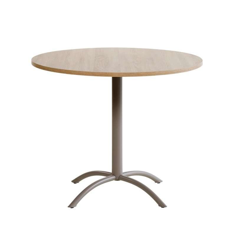 Table ronde de cuisine en stratifi laser 4 pieds for Table de cuisine ronde