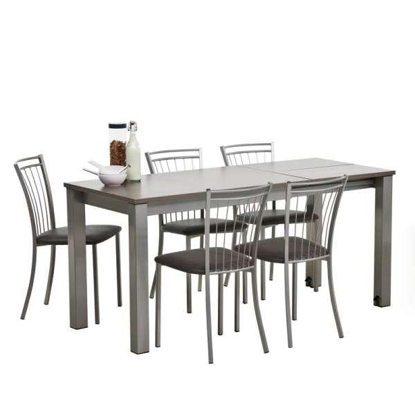 Table de cuisine rectangulaire en stratifié avec allonge Valencia - 5